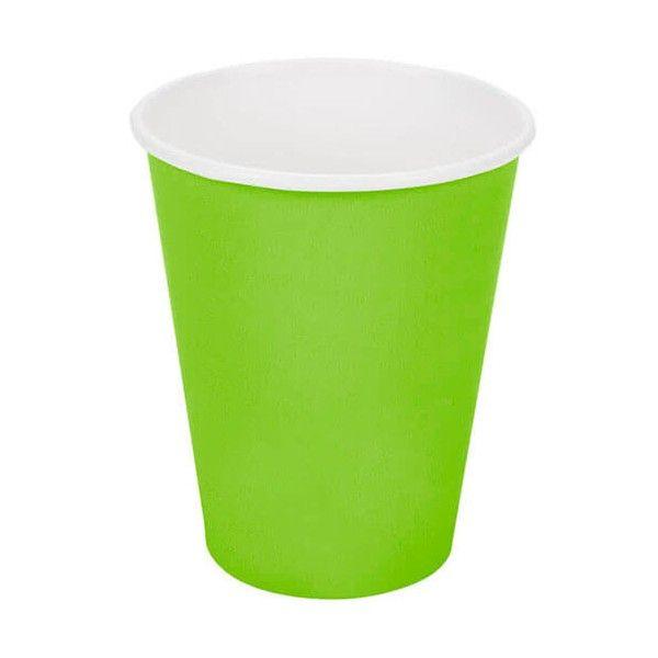 Limegrønne papkrus 1 stk