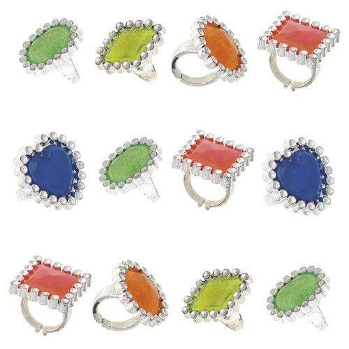 Diamant ringe i plast, 1 stk
