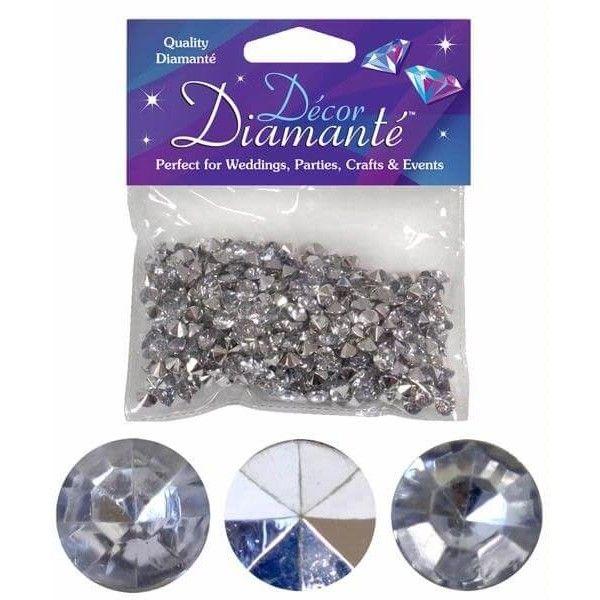 Pynte diamanter, sølv, 6mm