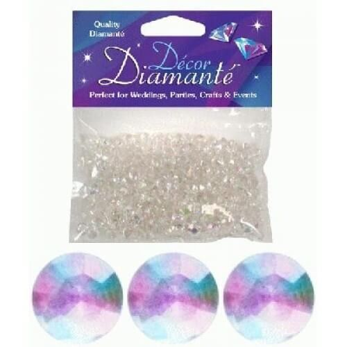Pynte diamanter, iriserende, 6 mm