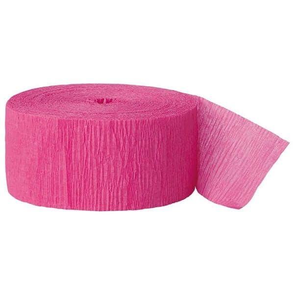 Crepepapir rulle, varm pink