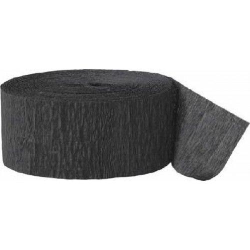 Crepepapir ruller, sort