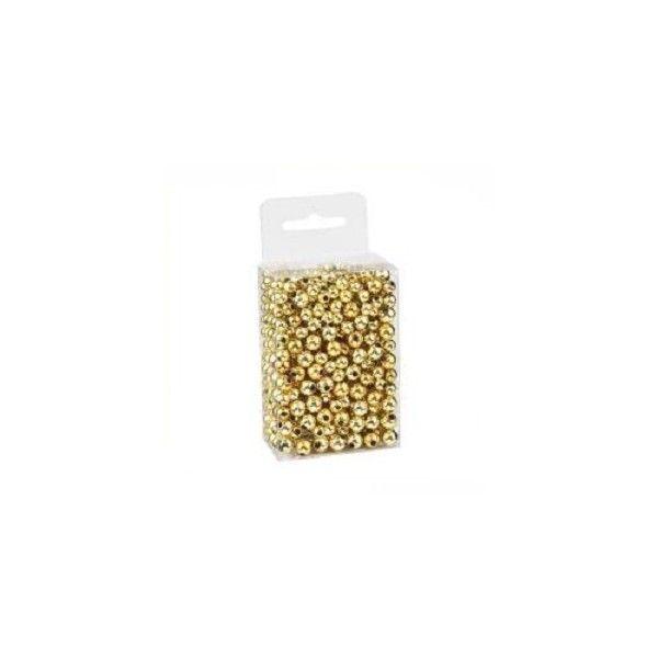 Perler runde metallic guld mix 6-8mm 20g