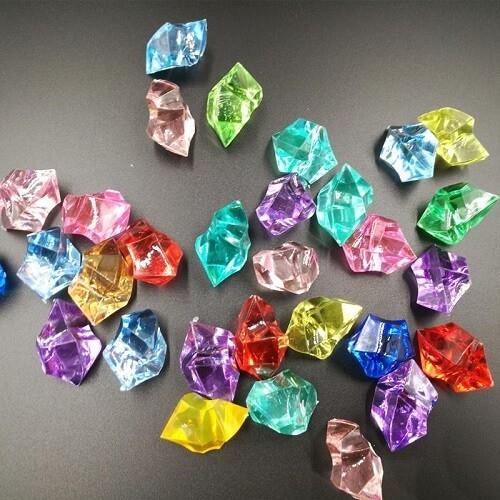Diamant krystaller mix