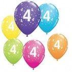 Tal balloner nummer 4, 5 stk pigefødselsdag