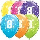 Tal balloner nummer 8, 5 stk, pigefødselsdag
