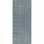 Stickers konfirmation sølv tekst 6648