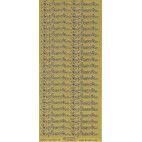 Stickers konfirmation tekst guld 632