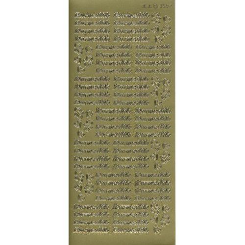 Stickers med Barnedåb guld tekst 3597