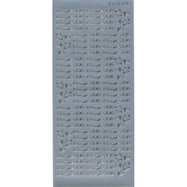 Stickers med Barnedåb sølv tekst 3597