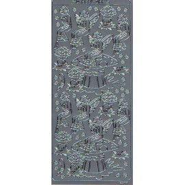 3D stickers med alf i sølv