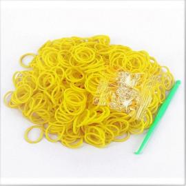 gule-loom-bands-elastikker