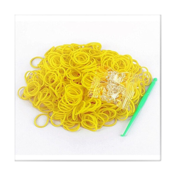 Loom bands elastikker, Neon gule