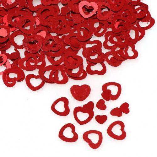 Konfetti hjerter røde