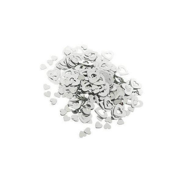 Konfetti sølv hjerter