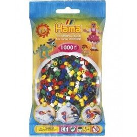 Hama midi perler 1000 stk 6 farver mix