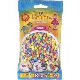 Hama midi perler 1000stk pastel mix