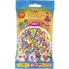 Hama midi perler 1000 stk pastel mix