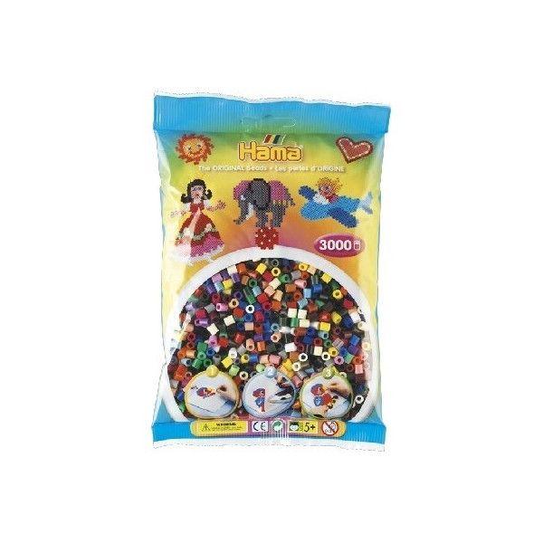 Hama midi perler 3000 stk 22 farver mix