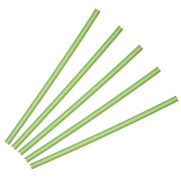 Papirsugerør kiwi grøn 25 stk