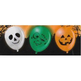 Halloween balloner med LED lys, 3 stk