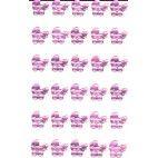 Rhinsten selvklæbende lyserøde barnevogne