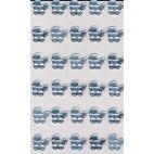 Rhinsten selvklæbende lyseblå barnevogne