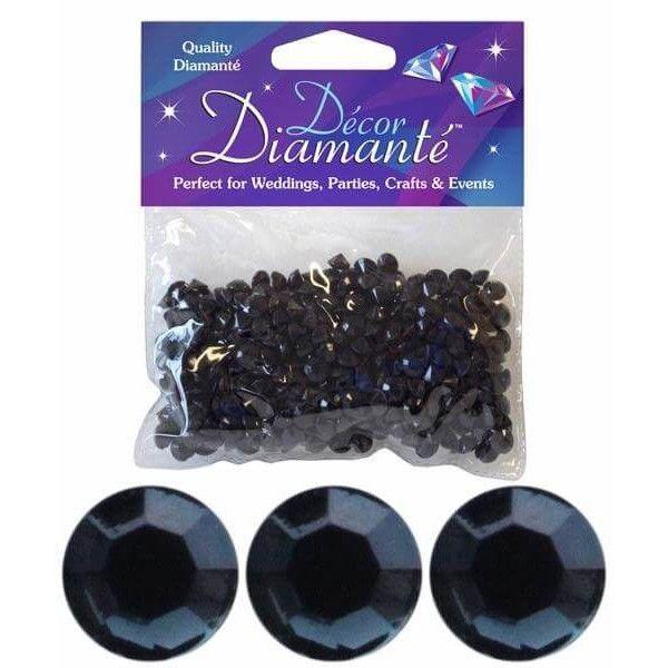 Pynte diamanter, sort, 6mm