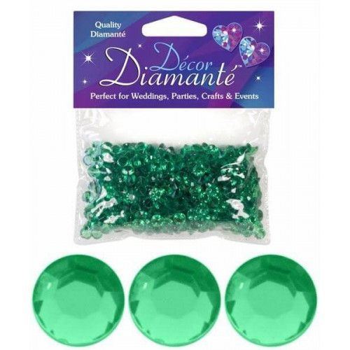 Pynte diamanter 6mm Emerald grøn