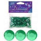 Pynte diamanter 6mm Emerald grøn