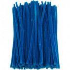 Chenille piberensere blå 4,5mm x 15,5cm 100 stk