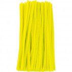 Chenille piberensere gule 4,5mm x 15,5cm 100 stk