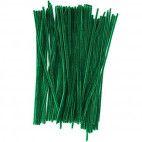 Chenille piberensere grønne 4,5mm x 15,5cm 100 stk