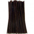 Chenille piberensere brune 4,5mm x 15,5cm 100 stk