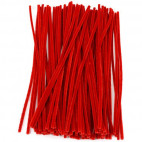 Chenille piberensere røde 4,5mm x 15,5cm 100 stk