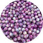 Glasperler runde 10mm lilla nuancer