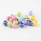 Perler runde med striber 16mm