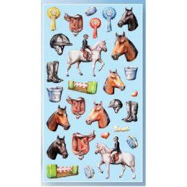 Stickers med ridning