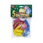 Tal balloner nummer 3, 5 stk