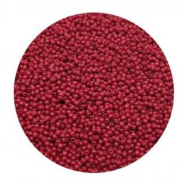 Rocailles perler 11/0 1.8mm røde