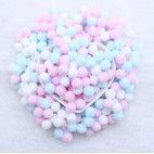 Pom Pom 10mm pastel farve mix 400 stk