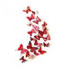 3D sommerfugle røde
