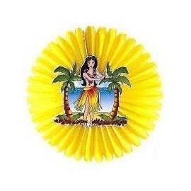 Hawaii dekoration med Hula pige