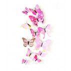 3D sommerfugle lyserøde