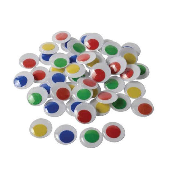 Rulleøjne 7mm mix farver