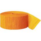 Crepepapir rulle, gulerodsfarve