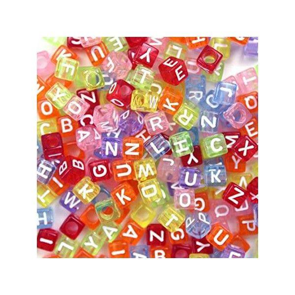 Perler firkantede transparente bogstaver og tal 6x6mm