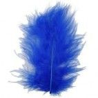 Blå fjer marabou