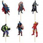 Marvel Avengers cupcake pynt 24 stk