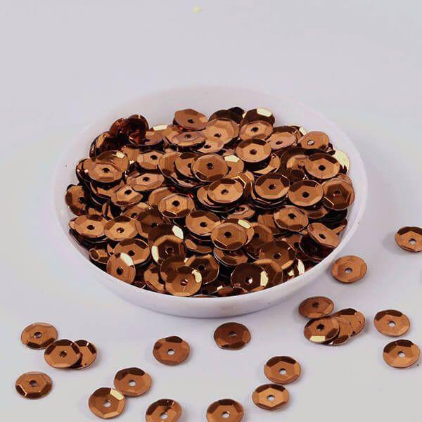 Palietter 6mm bronze 500 stk